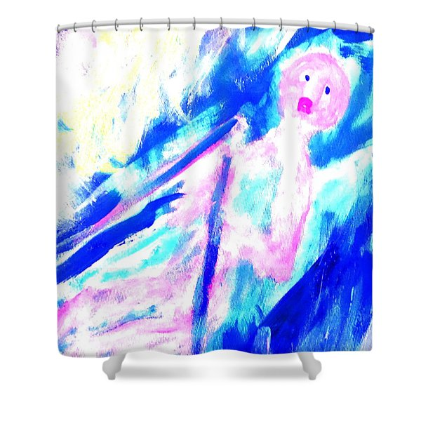 Feeling So Lonely But Must Keep Silent In The Boat Shower Curtain