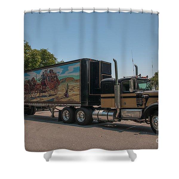 Keep Those Wheels A Truckin Shower Curtain