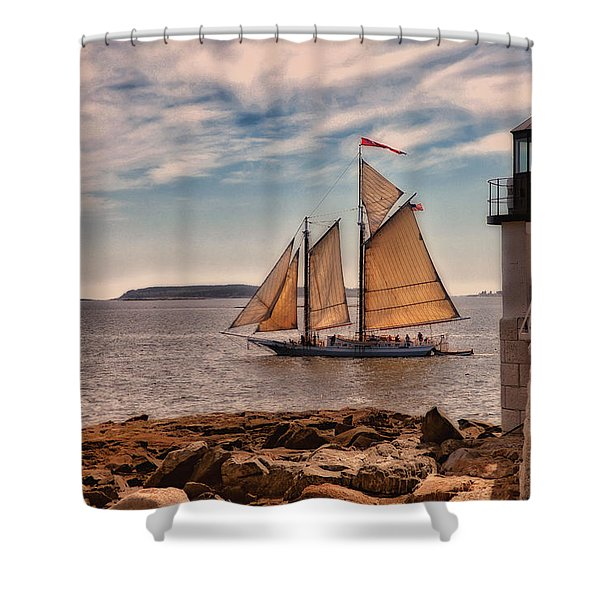 Keeping Vessels Safe Shower Curtain