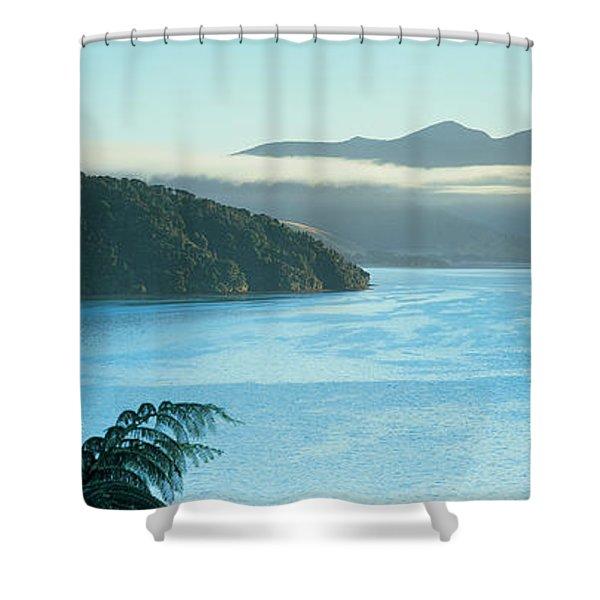 Kenepuru, Marlborough Sound, New Zealand Shower Curtain