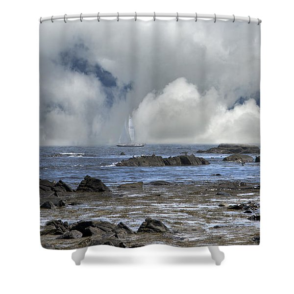 Kennebunkport Seascape Shower Curtain