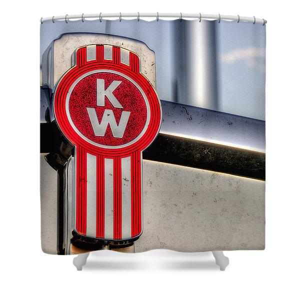 Kenworth Hood Logo 34709 Shower Curtain