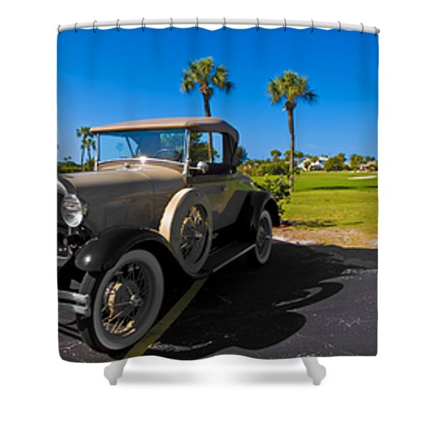 Key Royale Golf Course Shower Curtain