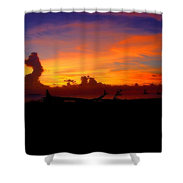 Key West Sun Set Shower Curtain