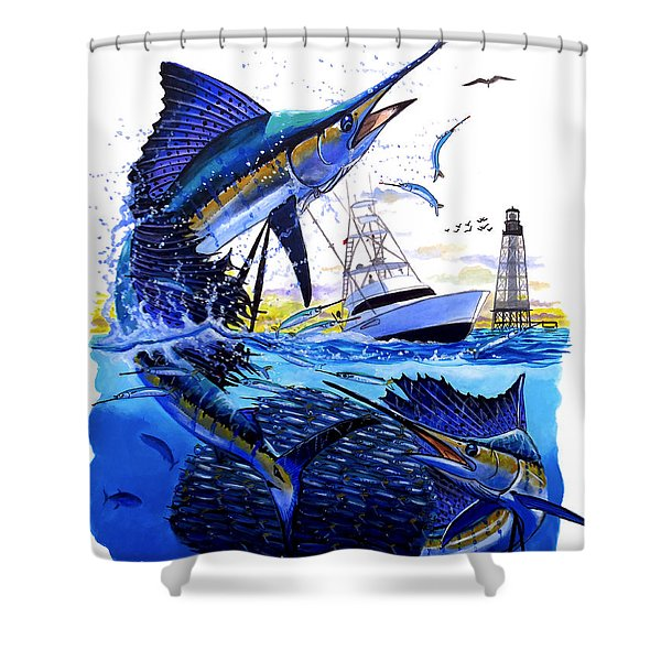 Keys Sail Shower Curtain
