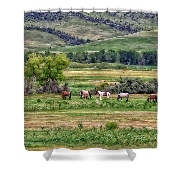 K G Ranch Shower Curtain