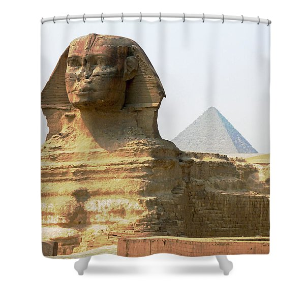 Khafra's Guardian Shower Curtain