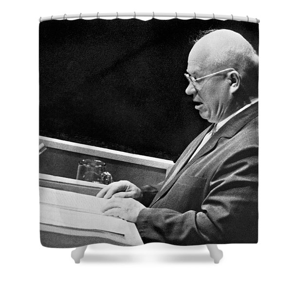 Khrushchev At United Nations Shower Curtain
