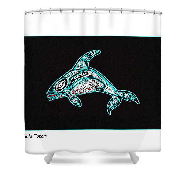 Killer Whale Totem Shower Curtain
