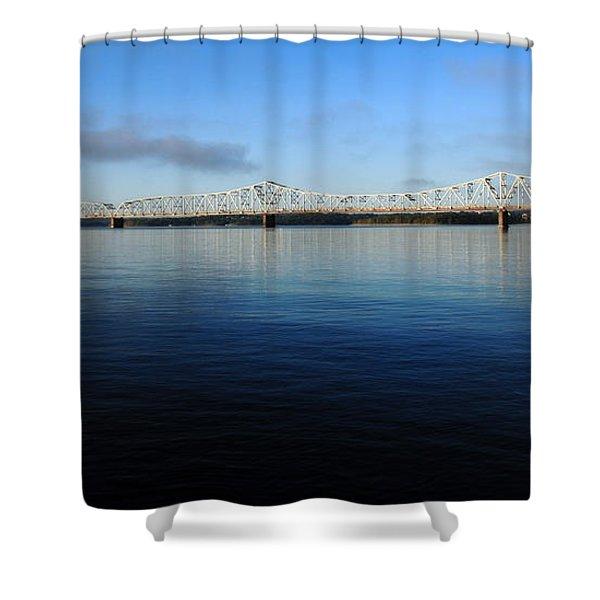 Kimberling City Bridge Shower Curtain