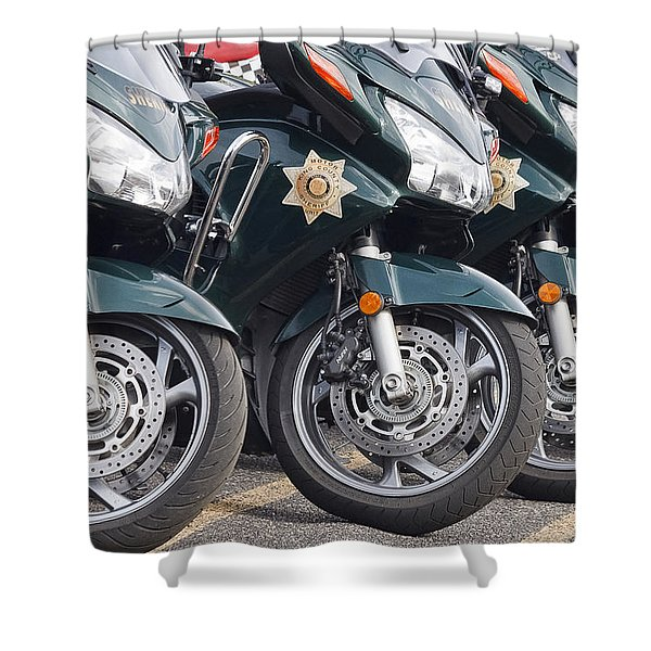 King County Police Motorcycle Shower Curtain