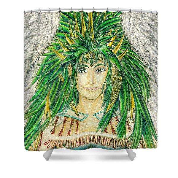 King Crai'riain Portrait Shower Curtain