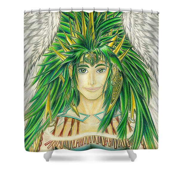 King Crai'riain Portrait Shower Curtain