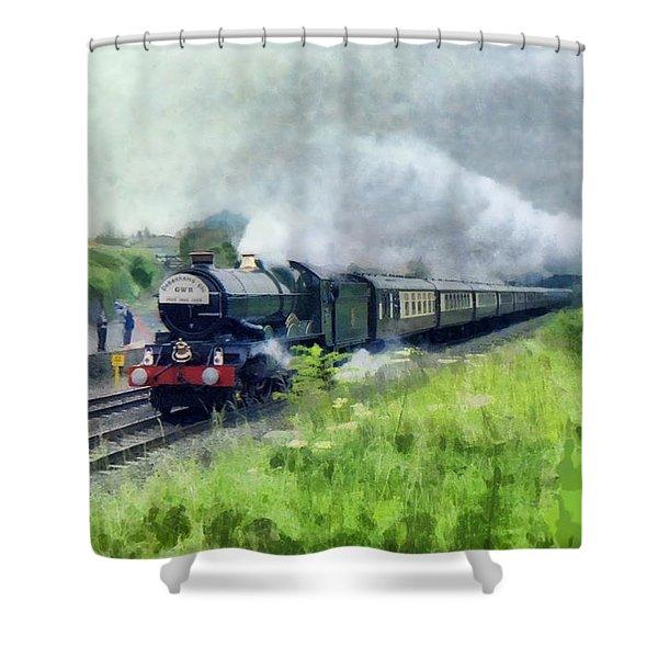 'king George V' Locomotive Shower Curtain