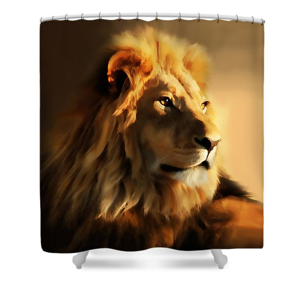 King Lion Of Africa Shower Curtain