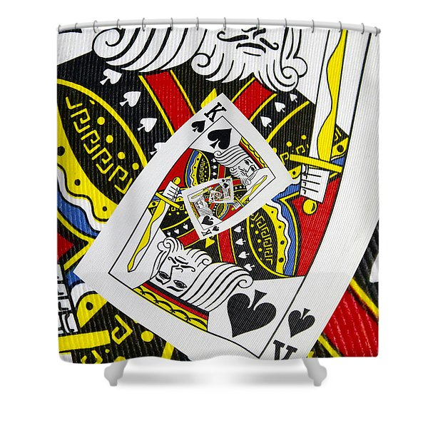 King Of Spades Collage Shower Curtain