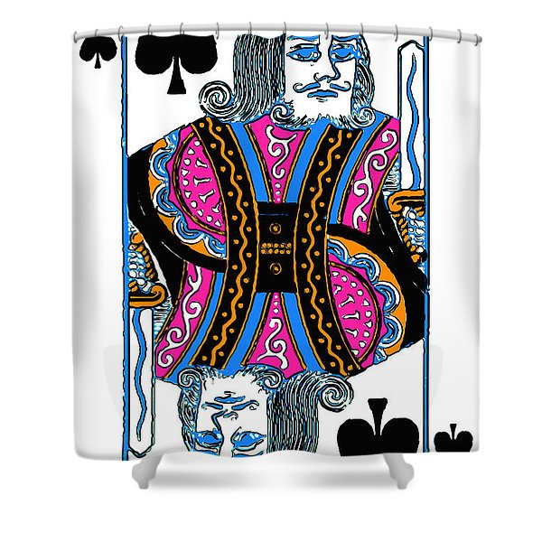 King Of Spades - V3 Shower Curtain