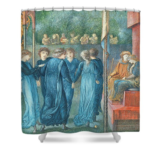 King Renes Wedding, 1870 Oil On Canvas Shower Curtain