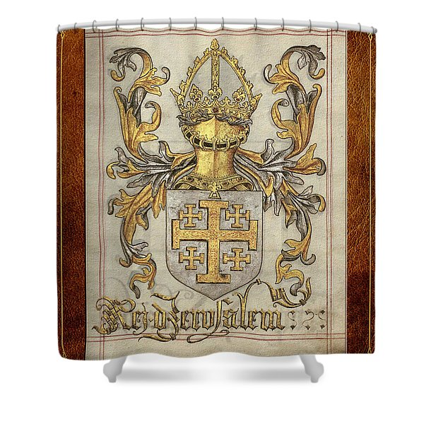 Kingdom Of Jerusalem Medieval Coat Of Arms  Shower Curtain