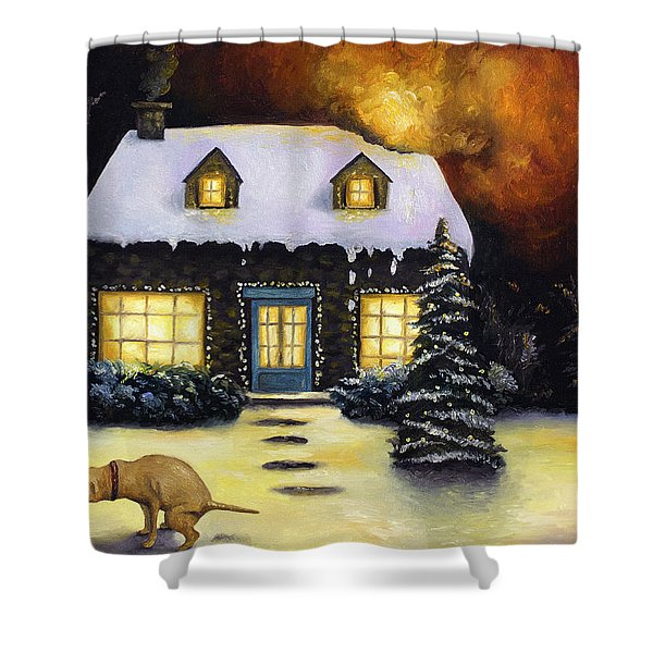Kinkade's Worst Nightmare Shower Curtain