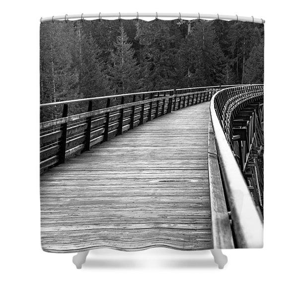 Kinsol Trestle Boardwalk  Shower Curtain