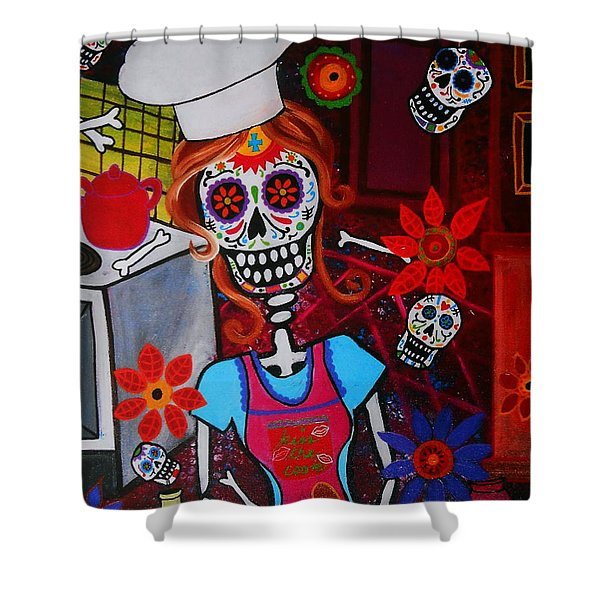 Kiss The Cook Shower Curtain