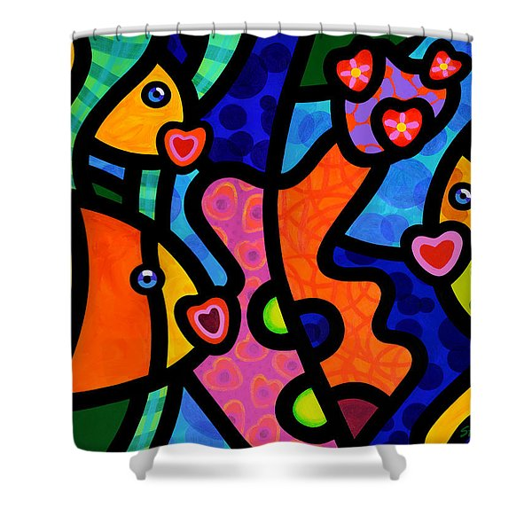 Kissing Fish Reef Shower Curtain