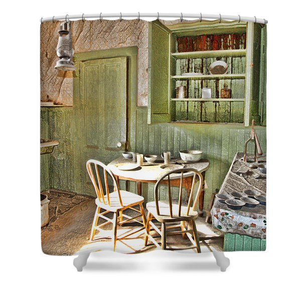 Kitchen In Bodie By Diana Sainz Shower Curtain