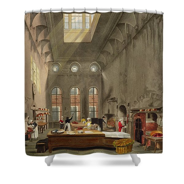 Kitchen, St. Jamess Palace, Engraved Shower Curtain