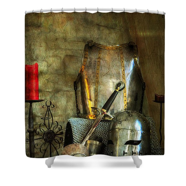 Knight - A Warriors Tribute  Shower Curtain