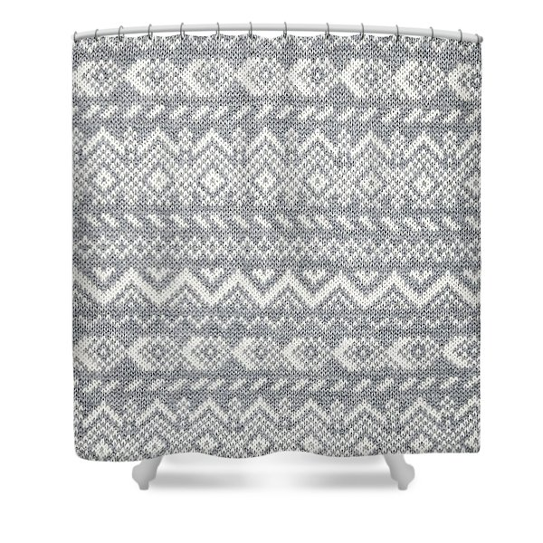 Knit Pattern Abstract Shower Curtain