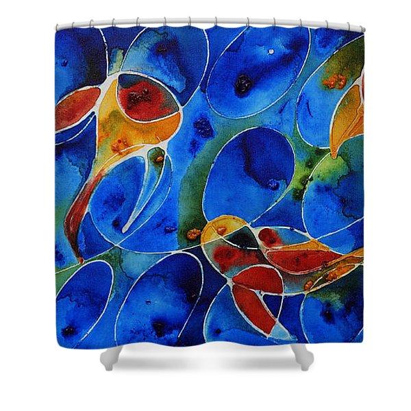 Koi Pond 2 - Liquid Fish Love Art Shower Curtain