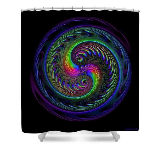 Koi Yin Yang Shower Curtain