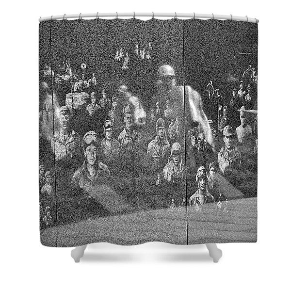 Shower Curtain featuring the photograph Korean War Veterans Memorial by Jemmy Archer