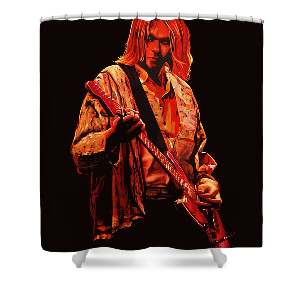 Kurt Cobain Painting Shower Curtain