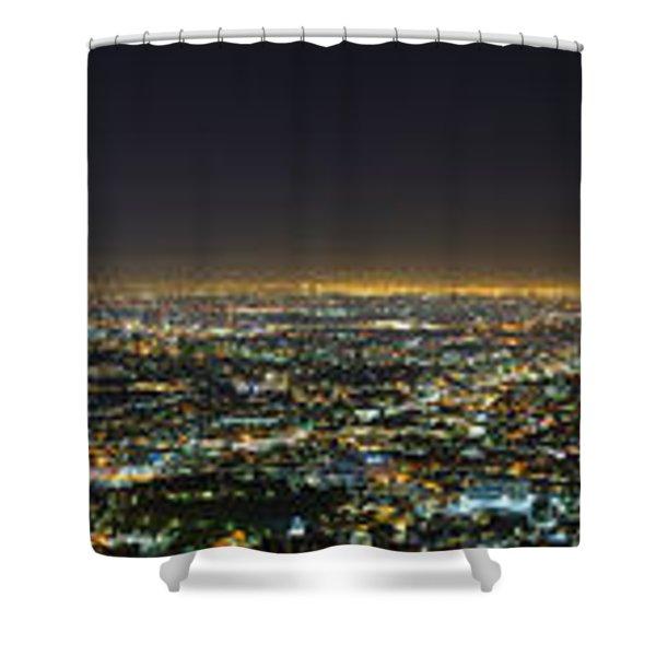 La At Night Shower Curtain