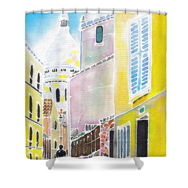 La Butte Montmartre Shower Curtain
