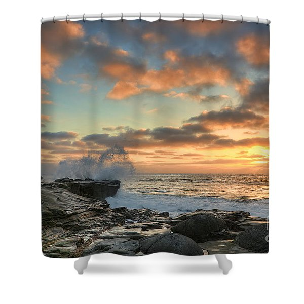 La Jolla Cove At Sunset Shower Curtain