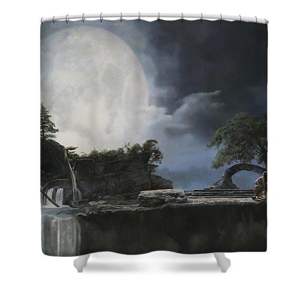 La Luna Bianca Shower Curtain