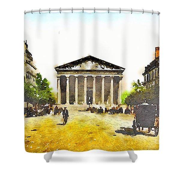 La Madeleine 1890 Shower Curtain