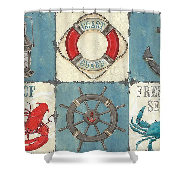 La Mer Collage Shower Curtain