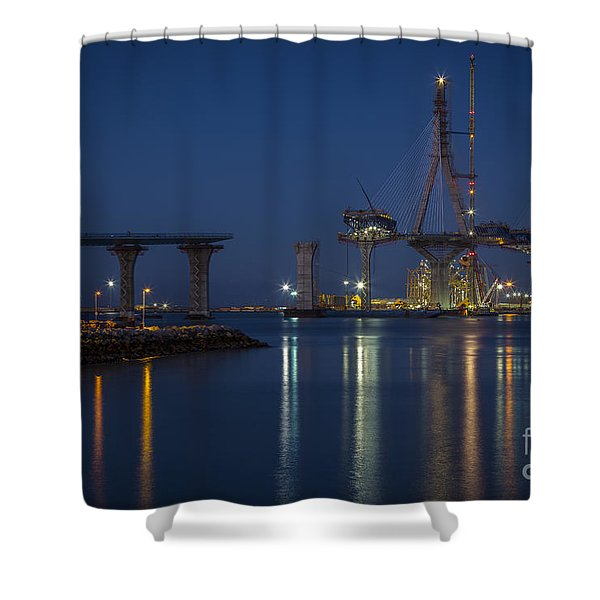 La Pepa Bridge Cadiz Spain Shower Curtain