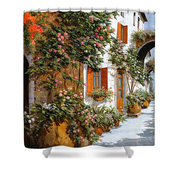 La Strada Al Sole Shower Curtain