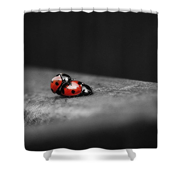 Lady Bird Loving Shower Curtain
