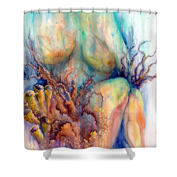 Lady In The Reef Shower Curtain