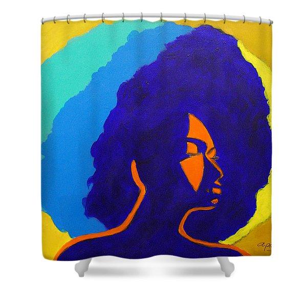 Lady Indigo Shower Curtain