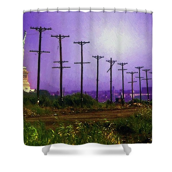 Lady Liberty Lost Shower Curtain