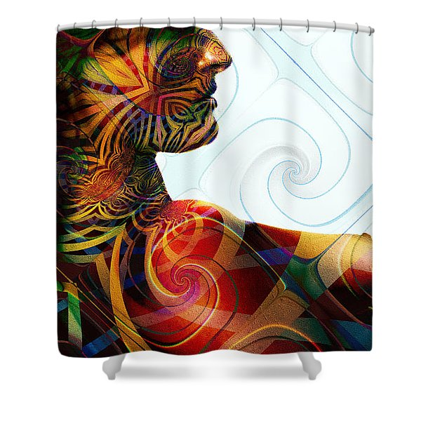 Lady Masquerade Shower Curtain