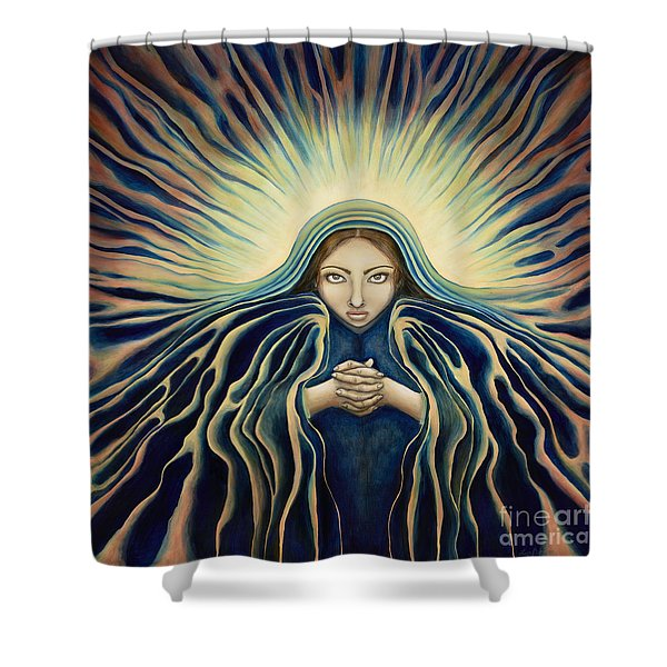 Lady Of Light Shower Curtain