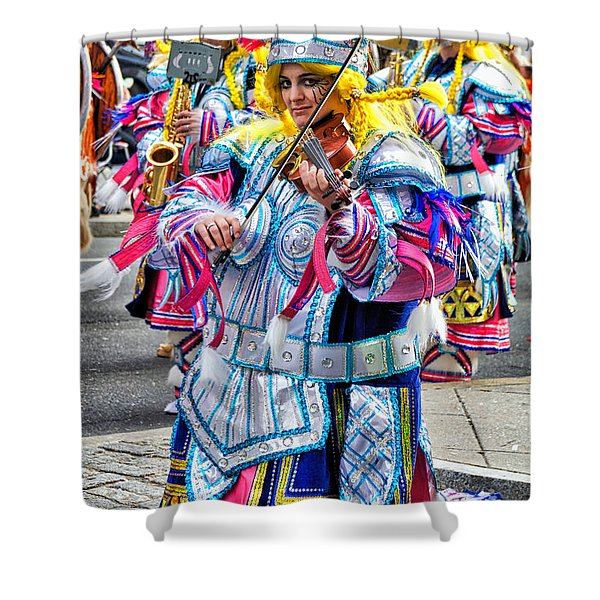 Lady Viking Mummer Shower Curtain